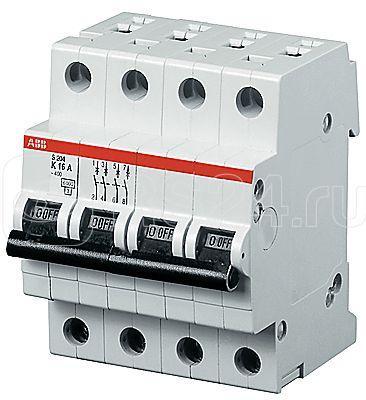 Выключатель автоматический модульный 4п C 20А 25кА S204P C20 ABB 2CDS284001R0204 купить в интернет-магазине RS24