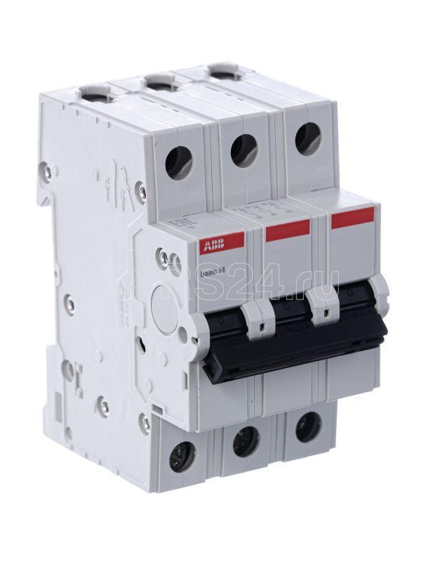 Выключатель автоматический модульный 3п C 10А 4.5кА Basic M BMS413C10 ABB 2CDS643041R0104 купить в интернет-магазине RS24