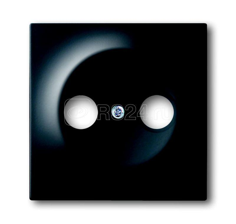 Накладка для TV-R розетки impuls черн. бархат ABB 2CKA001753A0140 купить в интернет-магазине RS24