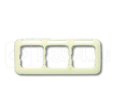 Рамка 3-м Busch-Duro 2000 SI горизонт. с полем для надписи сл. кость ABB 2CKA001754A3716 купить в интернет-магазине RS24