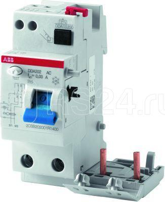 Блок диф. тока 2мод. DDA202 AC-63/0.1 ABB 2CSB202001R2630 купить в интернет-магазине RS24