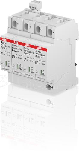 Устройство защиты от импульсных перенапр. (УЗИП) OVR T2 4L 40-440 P TS QS ABB 2CTB803873R5300 купить в интернет-магазине RS24