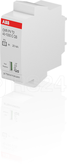 Устройство защиты от импульсных перенапр. (УЗИП) OVR PV T2 40-1000 C QS картриджOVR PV T2 40-1000 ABB 2CTB804153R3200 купить в интернет-магазине RS24