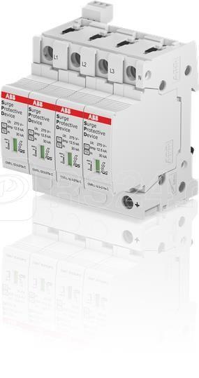 Устройство защиты от импульсных перенапр. (УЗИП) OVR T1-T2 4L 12.5-275s P TS QS ABB 2CTB815710R1100 купить в интернет-магазине RS24