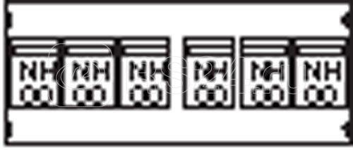 Пластрон для 6 NH00 3ряда/2 рейки ABB AG84 купить в интернет-магазине RS24