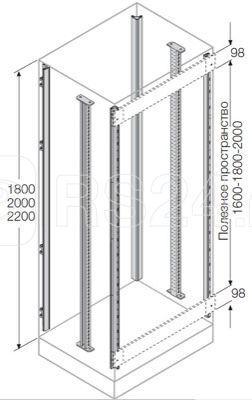Комплект стоек каркаса для установки ячеек H=2200мм (4 стойки+2 промежут. стойки) ABB EM2202 купить в интернет-магазине RS24