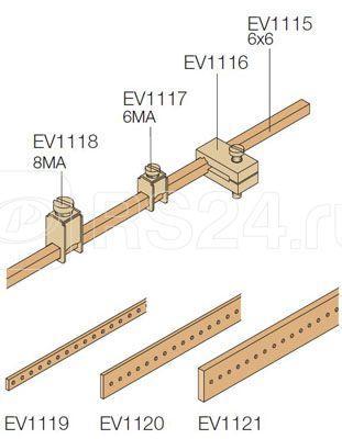 Крепление каб. d4-35кв.мм на шину EV1115 (уп.100шт) ABB EV1118 купить в интернет-магазине RS24