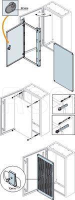 Плата монтажная перф. для шкафов SR 1200х600мм ABB TQ1260 купить в интернет-магазине RS24