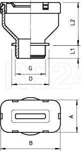 Ввод кабельный плоский 106 FL M25 12 35 OBO 2013012 купить в интернет-магазине RS24