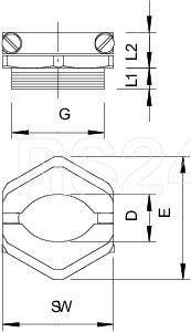 Винт нажимной 157 MS PG 9 OBO 2013096 купить в интернет-магазине RS24