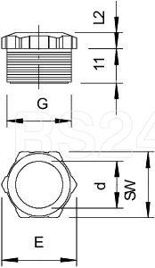 Заглушка 107 E PG13.5 PS OBO 2025132 купить в интернет-магазине RS24