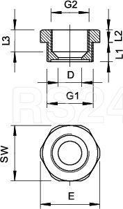 Переходник 107 R PG16-11 PA OBO 2030756 купить в интернет-магазине RS24