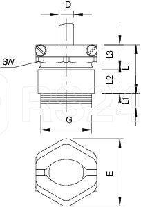 Ввод кабельный латунь 159 MS PG11 OBO 2046113 купить в интернет-магазине RS24