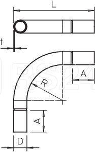 Дуга для трубы d32мм SBN32 G гальваническое цинк. OBO 2046811 купить в интернет-магазине RS24