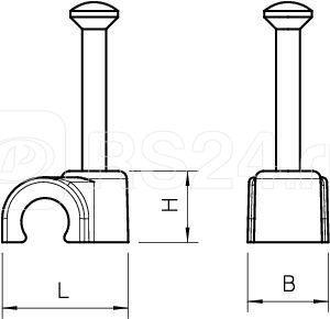 Скоба крепежная с гвоздем d8мм L25 2008 25 RW OBO 2225611 купить в интернет-магазине RS24