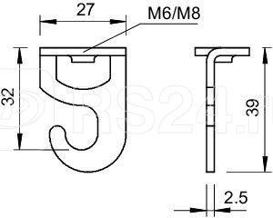 Крючок потолочный TS 2989 M8 G OBO 3460789 купить в интернет-магазине RS24