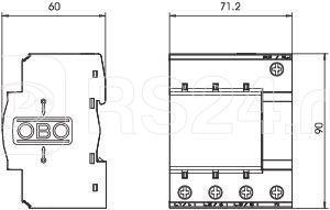 Основание УЗИП 3+NPE MB 50-3+NPE OBO 5096675 купить в интернет-магазине RS24