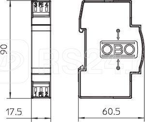 Разрядник комбин. для парных жил FRD 24 HF OBO 5098575 купить в интернет-магазине RS24