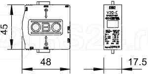 Вставка для УЗИП (Класс II) 550В V20-C 0-550 OBO 5099617 купить в интернет-магазине RS24