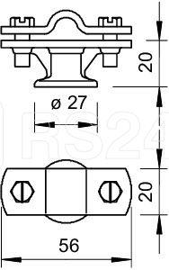 Держатель проволоки d8-10мм с перемыч. Тип:113 Z8-10 OBO 5229960 купить в интернет-магазине RS24
