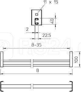Перекладина С-образ. для кабельного лотка лестн. типа 1054мм CK 40 110 FT OBO 6008313 купить в интернет-магазине RS24