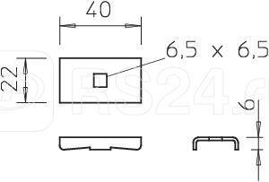 Фиксатор 40х22 LKS 40 VA4301 OBO 6017134 купить в интернет-магазине RS24