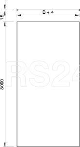 Крышка для лотка листового осн.330 L3000 сталь 1.5мм DRL FAM 330 V4A OBO 6051212 купить в интернет-магазине RS24