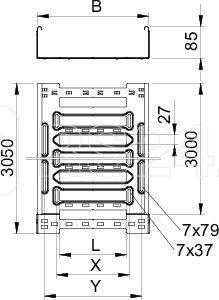 Лоток листовой перфорированный 500х85 L3050 сталь 1.5мм SKSM 850 FT OBO 6059559 купить в интернет-магазине RS24