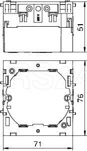 Коробка монтажная (1мест.) 71х76х51мм 71GD6 OBO 6288610 купить в интернет-магазине RS24