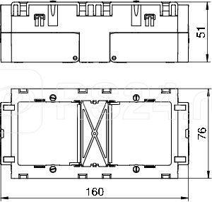 Коробка монтажная (2мест.) 160х76х51мм 71GD7 OBO 6288611 купить в интернет-магазине RS24