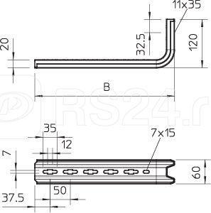 Кронштейн опорн. настен TPSA 145 FS OBO 6364101 купить в интернет-магазине RS24