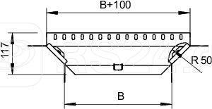 Ответвитель T-образный/крест. 100х85 RAA 810 FS OBO 7002475 купить в интернет-магазине RS24
