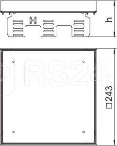 Рамка кассетная RKN2 ном. размер UZD3 9 243х243мм 9VS25 сталь OBO 7409068 купить в интернет-магазине RS24