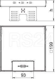 Рамка кассетная RKSN2 UZD3 ном. размер 4 200х200мм 4MS25 латунь OBO 7409224 купить в интернет-магазине RS24