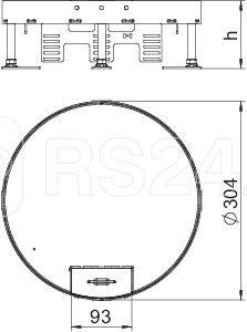 Рамка кассетная RKS2 ном. размер R9 d305мм V25 сталь OBO 7409280 купить в интернет-магазине RS24