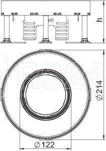 Рамка кассетная RKFR2 ном. размер 4 d215мм V20 сталь OBO 7409422 купить в интернет-магазине RS24