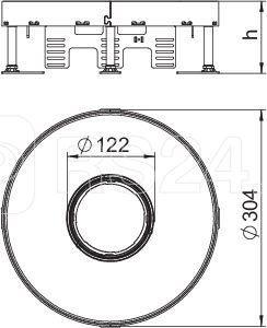 Рамка кассетная RKFR2 ном. размер 9 d305мм V20 сталь OBO 7409430 купить в интернет-магазине RS24