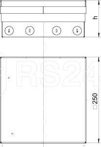 Комплект лючка для монтажа UDHOME9 2V GB V (уп.1шт) OBO 7427300 купить в интернет-магазине RS24
