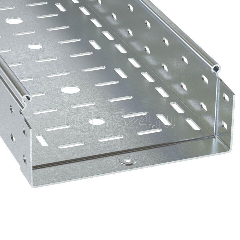 Лоток листовой перфорированный 600х80 L3000 сталь 1.2мм цинк-ламель DKC 3530812ZL купить в интернет-магазине RS24