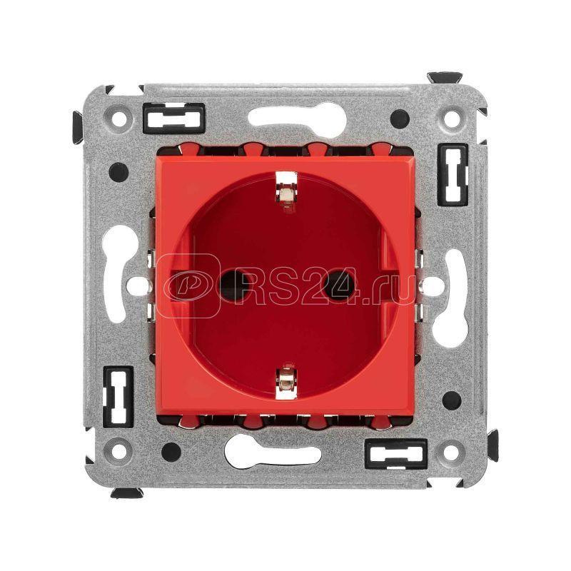 Розетка 3п 2P+E СП Avanti Красный квадрат защ. шторки DKC 4401003 купить в интернет-магазине RS24