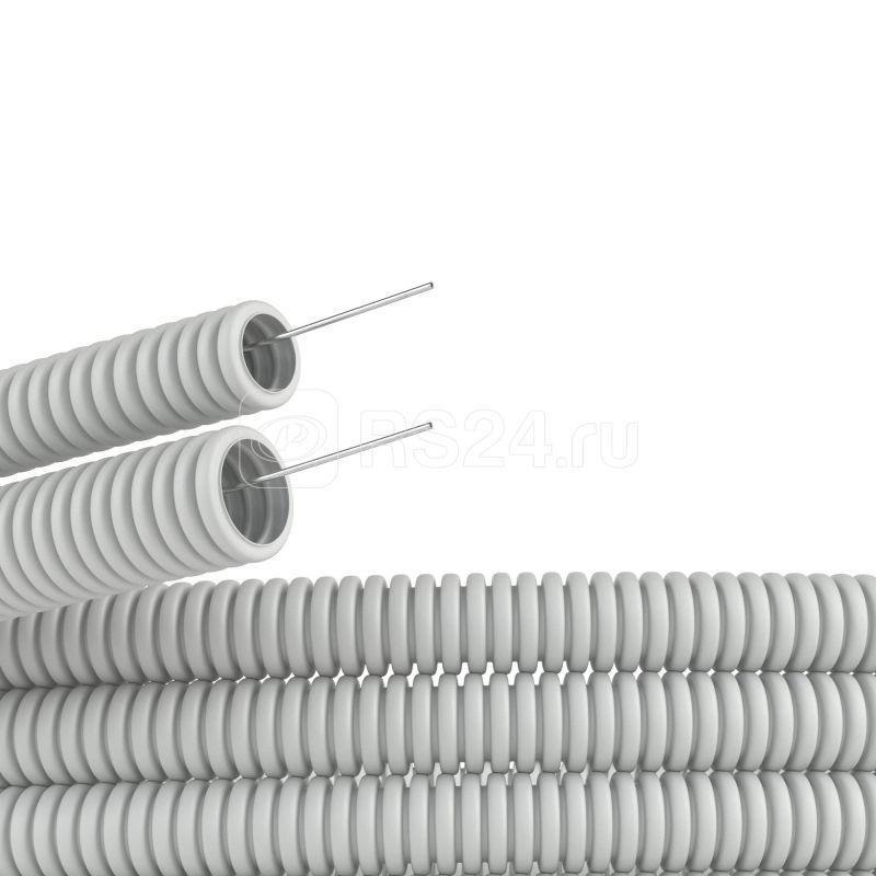 Труба гофрированная ПВХ d16мм с протяж. сер. (уп.100м) DKC 91916