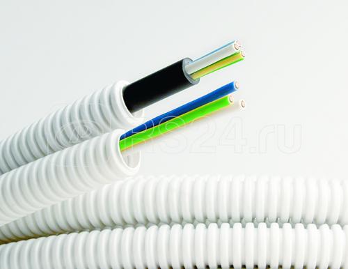 Труба гофрированная ПВХ d20мм с кабелем 3х2.5 ВВГнгLS РЭК