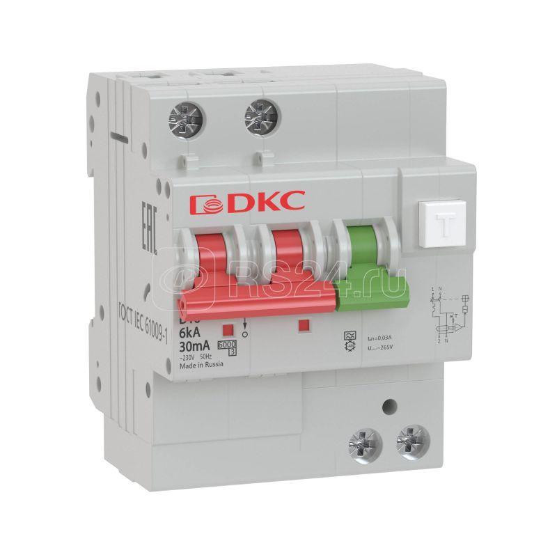 Выключатель автоматический дифференциального тока 2п C 16А 30мА 6кА тип A YON MDV63 DKC MDV63-22C16-A