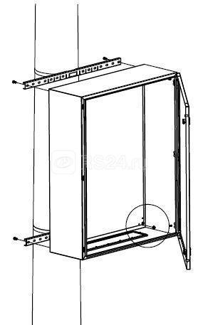 Комплект крепления к столбу для шкафов CE/RAM box ширина 400мм DKC R5FB400