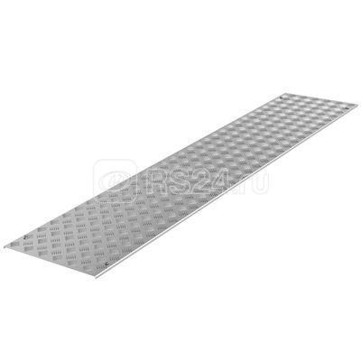 Крышка для лотка рифленая с фиксатором осн.900 L3000 алюминий 3мм анодир. DKC UKS319
