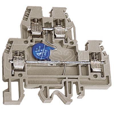 Зажим проходной DAS.4/V120. 2-х уровн. 4кв.мм с варистором 120В беж. DKC ZDSV120 купить в интернет-магазине RS24