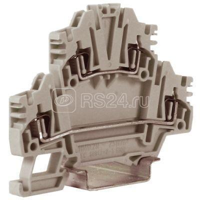 Зажим проходной HMD.2NGR 2-х уровн. 2.5кв.мм сер. DKC ZHD400GR