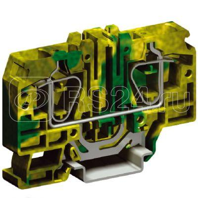 Клемма пруж. HTE.16 16кв.мм для заземл. жел./зел. DKC ZHT340 купить в интернет-магазине RS24