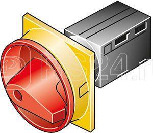 Выключатель нагрузки 6п Iu=10А пол.0-1 90град. 30х30мм перед. креп. TM-3-8326/E/SVB красн./желт. ручка EATON 045498 купить в интернет-магазине RS24