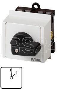 Переключатель управления 1п Ie=12А пол.0-1 45град. 45х45мм модульное исполнение T0-1-15401/IVS EATON 045973 купить в интернет-магазине RS24